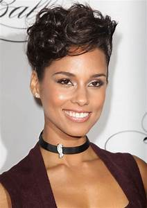 Sassy Short Swirls Alicia Keys Short Hairstyle Simple