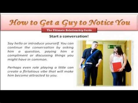 How To Get A Guy To Notice You Youtube