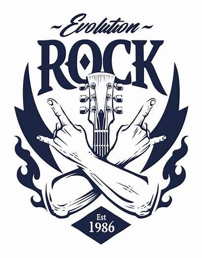 Vector Rock Emblem Hand Vectors Symbols Clipart