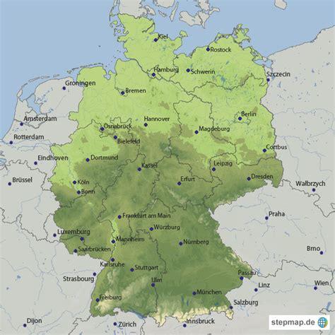 deutschland grundkarte von kartophilist landkarte fuer