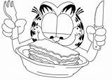 Garfield Lasagna Colorare Coloring Disegni Printable Colorear Piatto Odie Knife Fork Sheets Strip Comic Cut Immagini Cartoon Colouring Gratis Davis sketch template