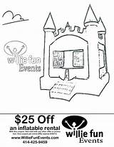 Bounce Coloring Events Fun Coupon Bouncy Inflatable Willie Parties Inspiration Pages Party Christmas sketch template