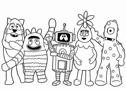 Gabba Yo Coloring Pages Drawing Characters Printable