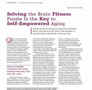Must-read article: Solving the Brain Fitness Puzzle Is the ...