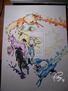 Pokemon Eevee Evolutions Drawings