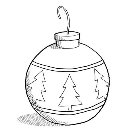 Tree Template Black And White by Christmas Ornament Clip Art Black And White Free Design