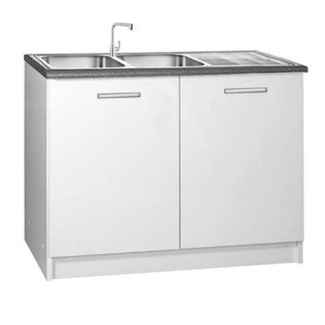 meuble sous evier de cuisine meuble de cuisine 2 portes sous évier 120 cm tara laqué