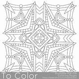Mandala Coloring Square Printable Pdf Adults Pattern Sheet Stars Getdrawings Drawing sketch template
