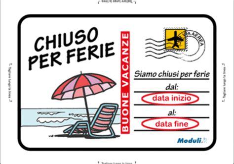 fax ufficio reclami telecom cartello chiuso per ferie moduli it
