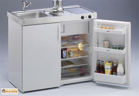 cuisine frigo mini cuisine avec frigo et vitrocéramique mk100 blanche stengel