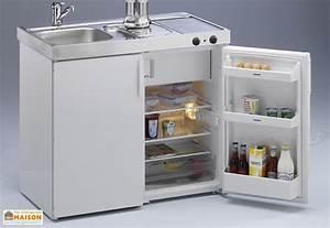 Mini Cuisine Avec Frigo Et Vitrocramique MK100 Blanche
