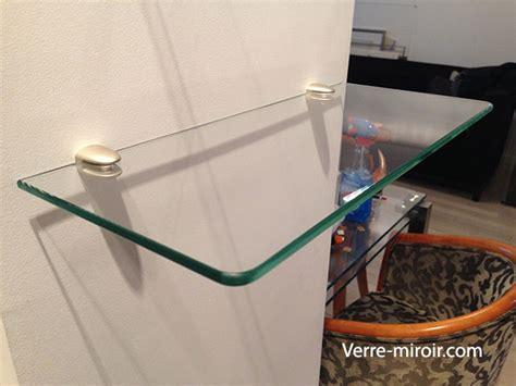 etagere murale en verre sur mesure table de lit