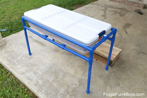 how to sand a table how to make a pvc pipe sand and water table