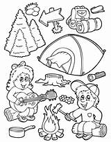 Camping Coloring Pages sketch template