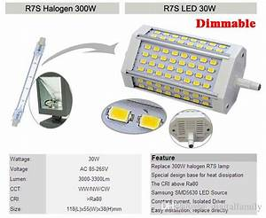 R7s Led 118mm 30w : high power 30w dimmable 118mm smd5630 led r7s light j118 r7s lamp replace 300w halogen lamp ac85 ~ Frokenaadalensverden.com Haus und Dekorationen