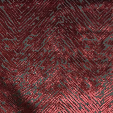 Velvet Drapery Fabric - kentish burnout velvet drapery upholstery fabric by