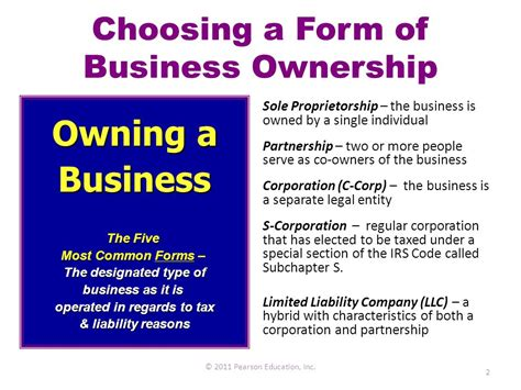 forms  business ownership