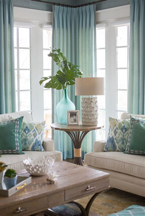blue table ls for living room beach inspired home with blue and white kitchen home