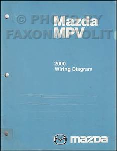 2000 Mazda Mpv Repair Shop Manual Original