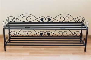 Schuhregal Aus Metall : schuhregal mi 2 regal 92 cm schuhschrank 21236 schuhablage metall schmiedeeisen ebay ~ Whattoseeinmadrid.com Haus und Dekorationen