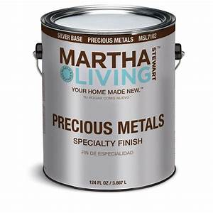 Martha stewart living 1 gal silver semi gloss precious for Home depot metallic furniture paint