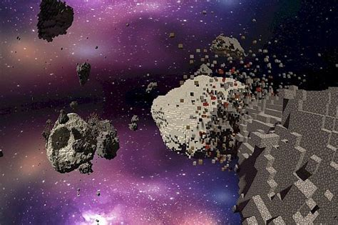 asteroid chaos space minecraft building