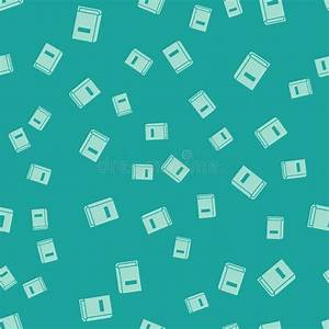 Green User Manual Icon Isolated Seamless Pattern On Green