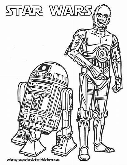 Wars Coloring Star Pages Colouring Starwars Printable