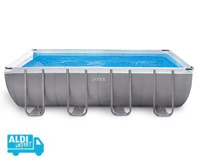 aldi sued intex frame pool set ultra quadra inkl sandfilteranlage