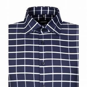 Chemise Homme A Carreau : chemise printed ajust e grand carreau marine ~ Melissatoandfro.com Idées de Décoration
