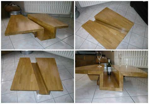 table basse chene massif lamelle colle solid glulam oak