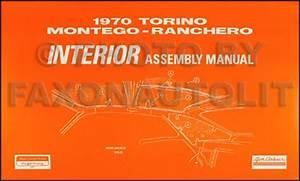 1970 Fairlane  Torino  Ranchero Wiring Diagram Manual Reprint