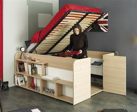lit mezzanine avec bureau fly clever bed designs with integrated storage for max efficiency