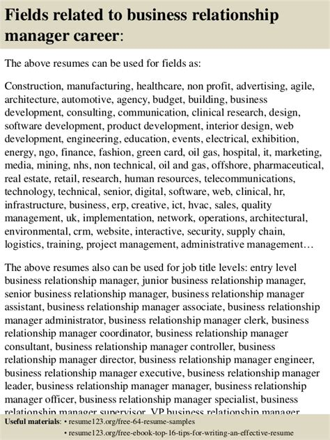 Business Relationship Manager Resume Exle by Top 8 Business Relationship Manager Resume Sles