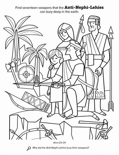 Coloring Nephi Anti Lds Mormon Primary Nefi