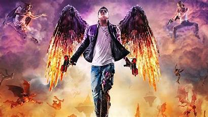 Wings Hell Saints Row Gat Fire Wallpapers