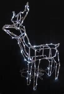 solar led deer 3d standing outdoor christmas reindeer 100 white xmas lights garden lights