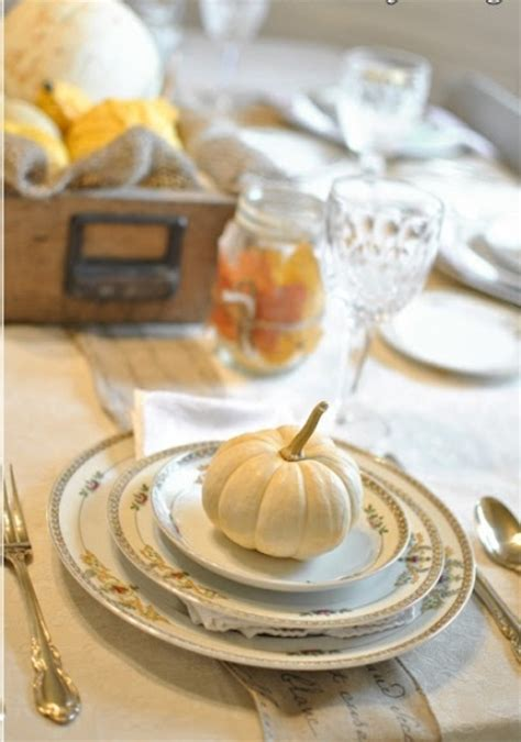 vintage  shabby chic thanksgiving decor ideas digsdigs