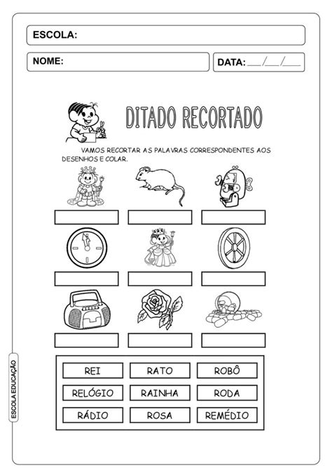 22 atividades de ditado recortado imprimir escola educa 231 227 o