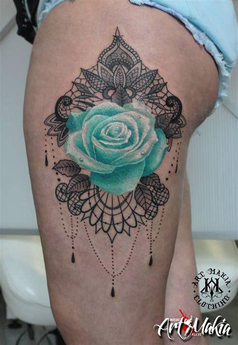 mandala lace rose tattoo  artmakia  deviantart