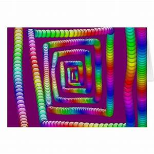 Cool Funky Rainbow Maze Rolling Marbles Design Card | Zazzle