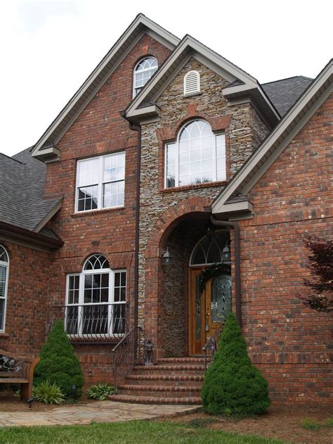 23 Best Two Tone Brickstone House Exteriors Images On