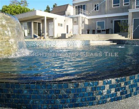 lightstreams glass tile steel blue iridescent glass