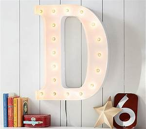 white marquee letters pottery barn kids With marquee letter storage box