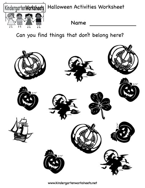 activity worksheets kindergarten festival 518 | Halloween Activity Worksheets Kindergarten (17)