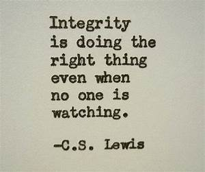 Inspirational Quotes About Integrity. QuotesGram