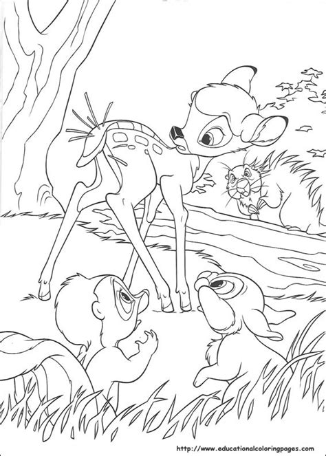 bambi  coloring pages educational fun kids coloring pages  preschool skills worksheets