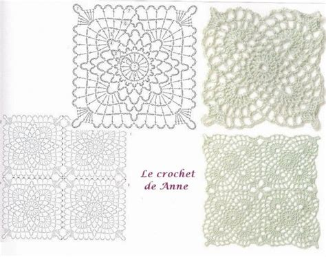 17 best images about crochet motifs square on stitches squares and