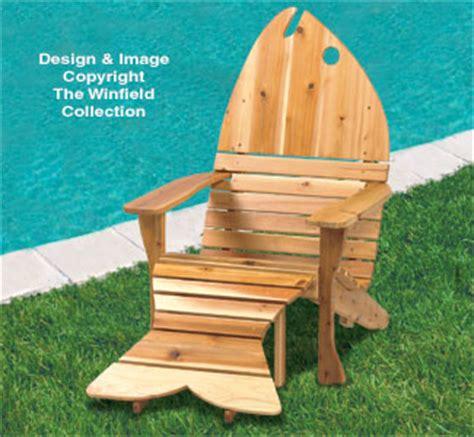 all yard garden projects adirondack fish chair ottoman