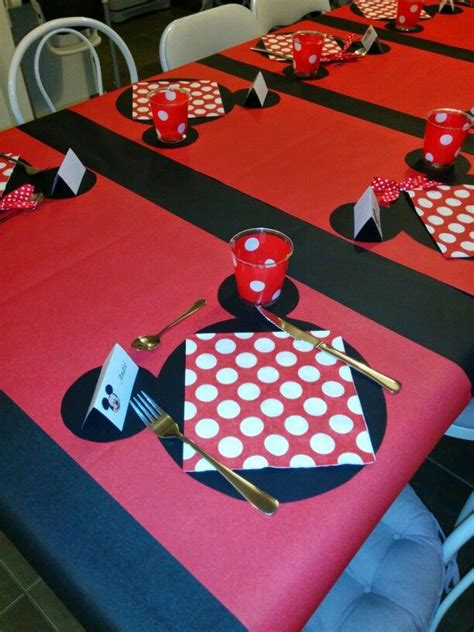 deco table minnie anniversaire minnie deco table